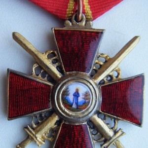 IMPERIAL RUSSIAN AWARD ORDER OF ST. ANNA. 4 DEGREE 8