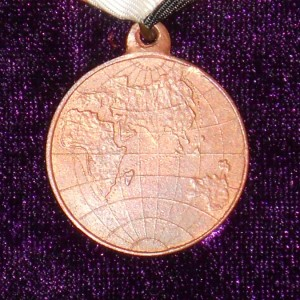 Imperial russian medal FOR THE WORLD TOUR IN 1904-1905 3