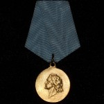 RUSSIAN MEDAL IN MEMORY OF THE 200TH ANNIVERSARY OF THE BATTLE OF POLTAVA 1
