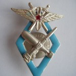 Soviet  russian badge SIGN 9 MILITARY SCHOOL PILOTS OF VVS RKKA 2